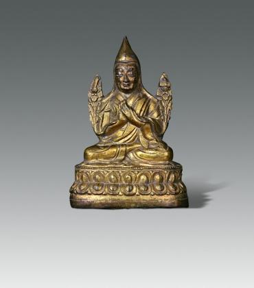 鎏金宗喀巴铜座像