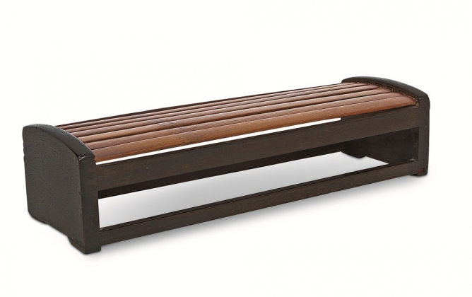 紫檀嵌竹条凉枕