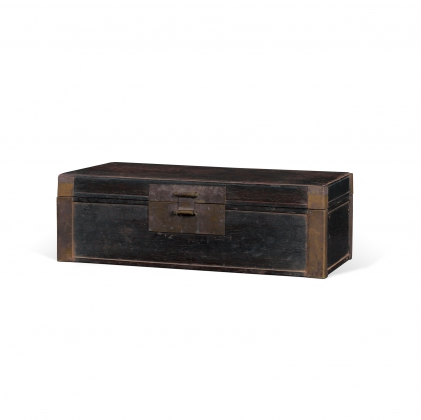 紫檀铜包角状元箱